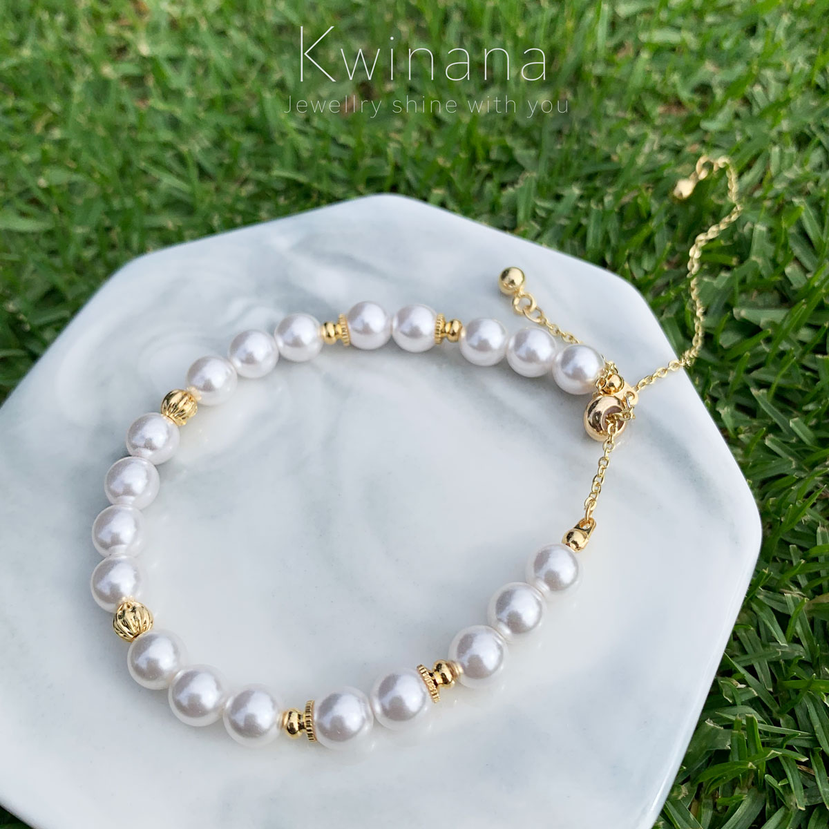 14k Gold Fill Cotton Beads Bracelet