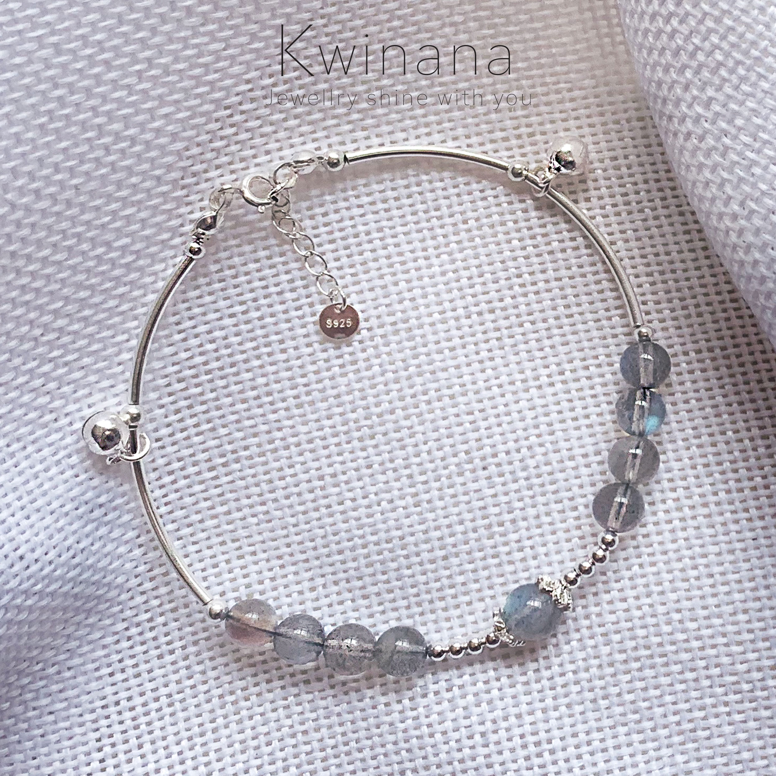 S925 Stirling Sliver Moonstone Bracelet