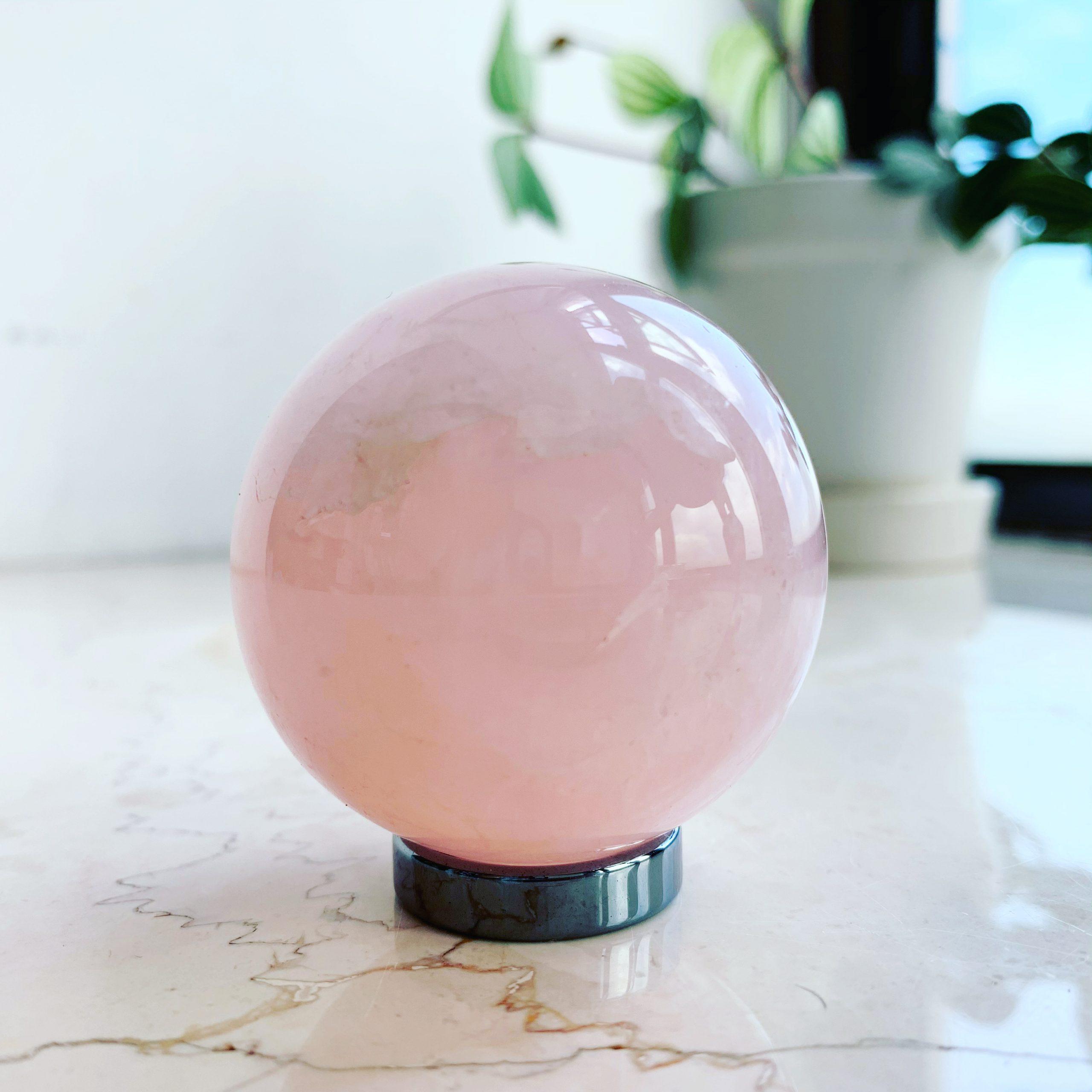 粉晶水晶球 (50mm)