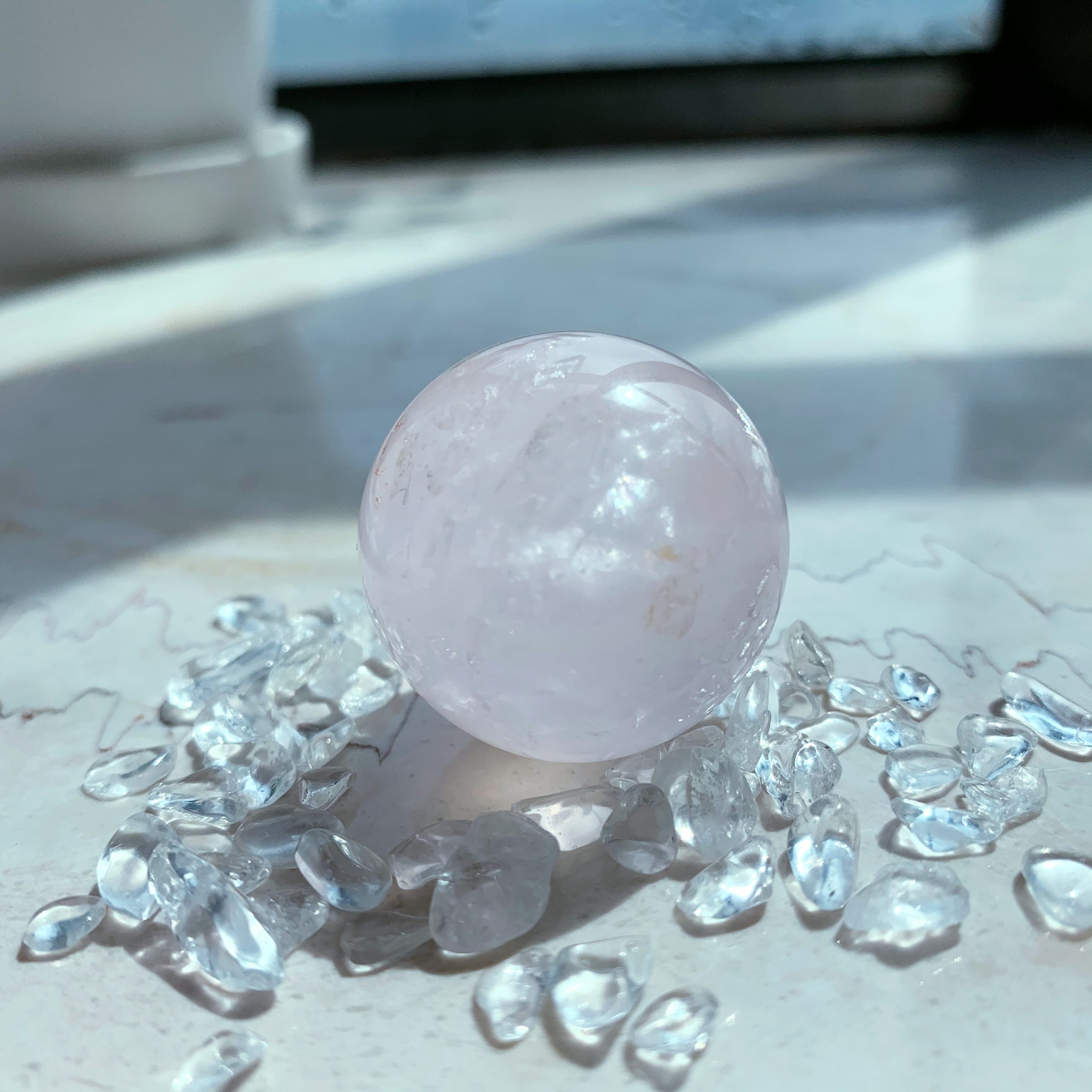 Rose Quartz Sphere Mini (30mm)