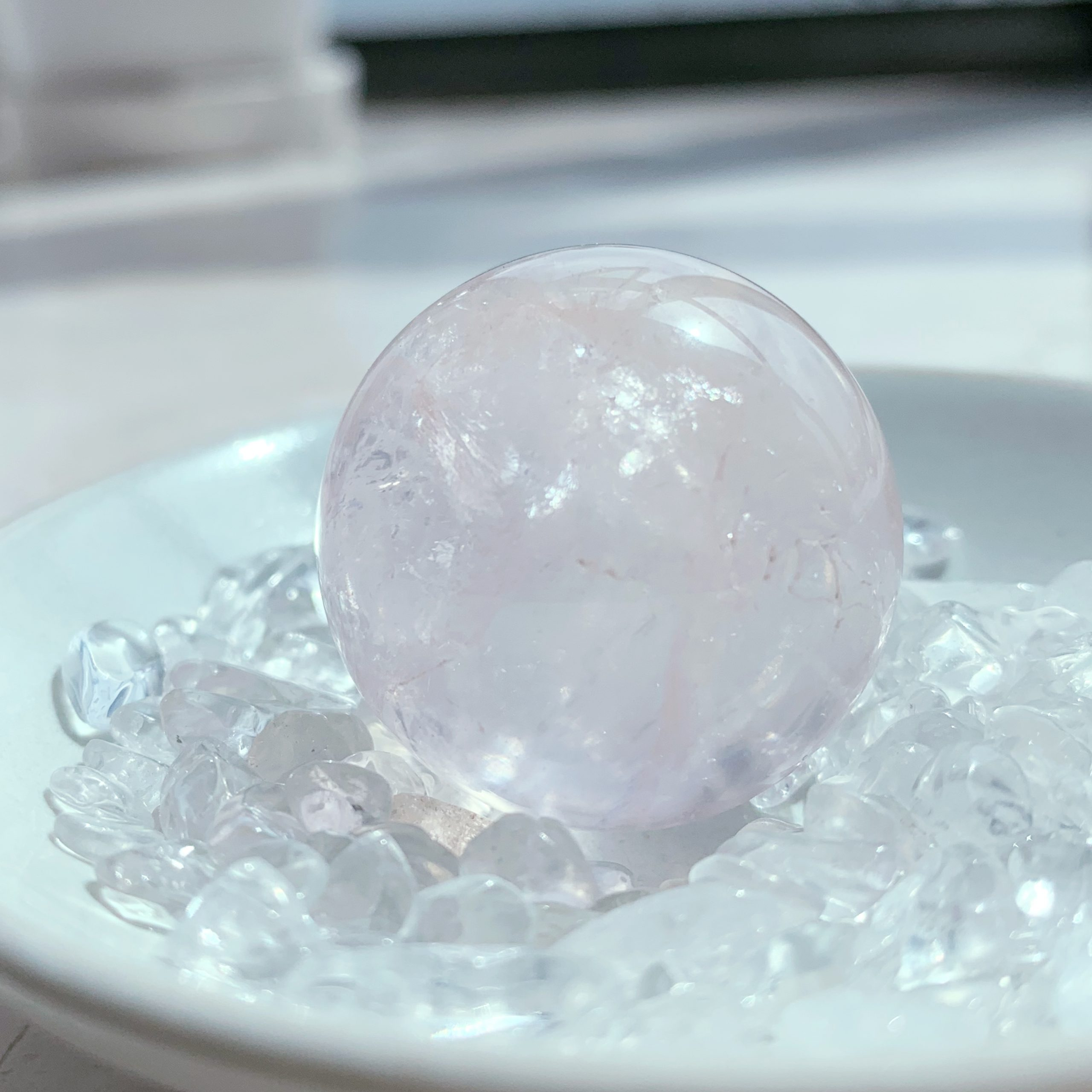 粉晶水晶球(30mm)