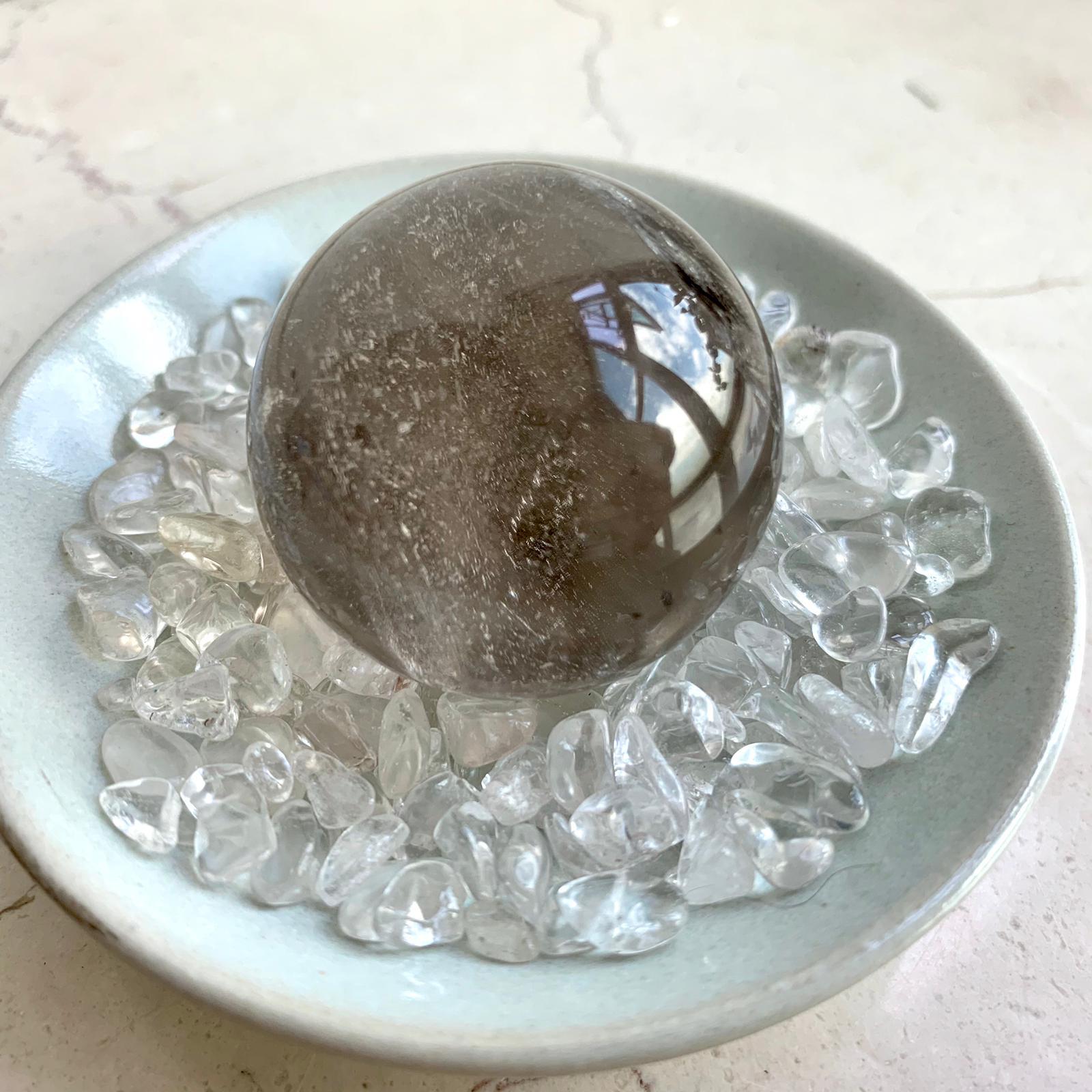 茶晶水晶球 (37mm)